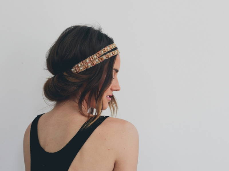 Headband Tuck Hairstyle