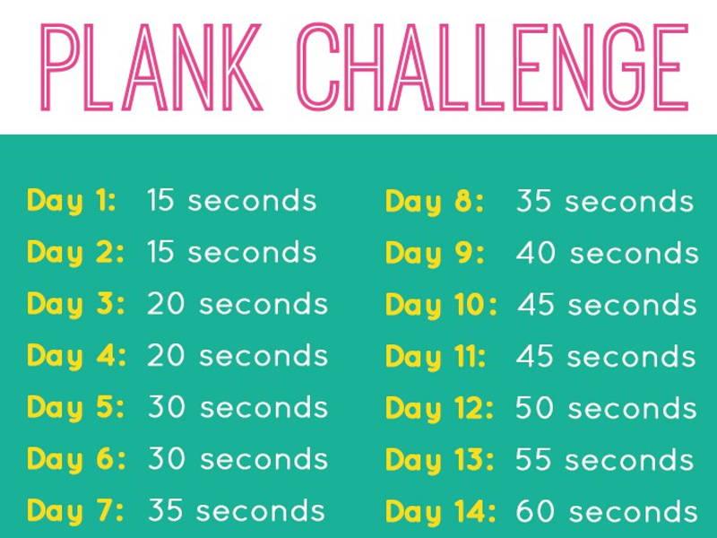 plank fitness challenge