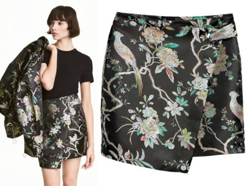 woven mini skirt