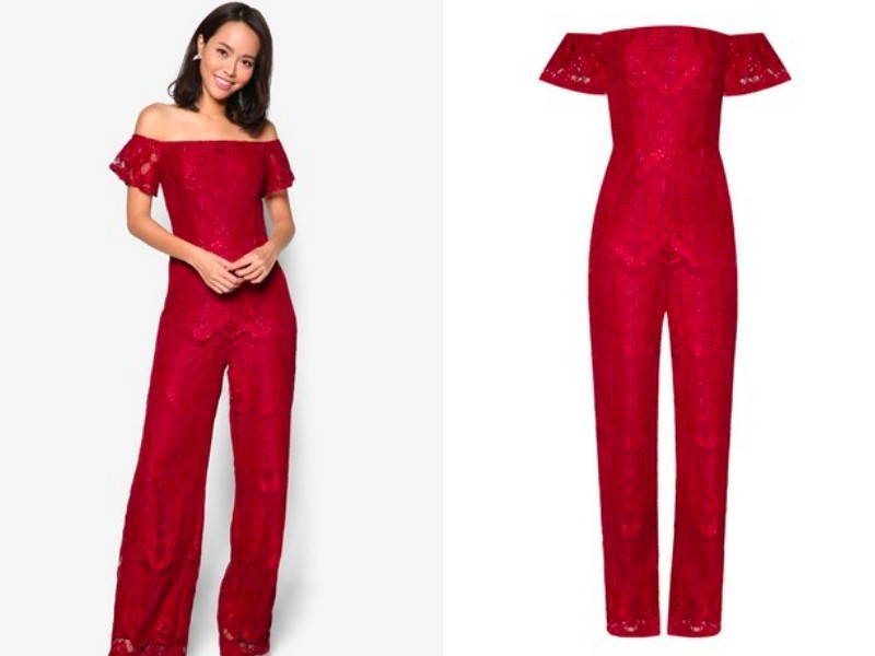 lace christmas jumpsuit
