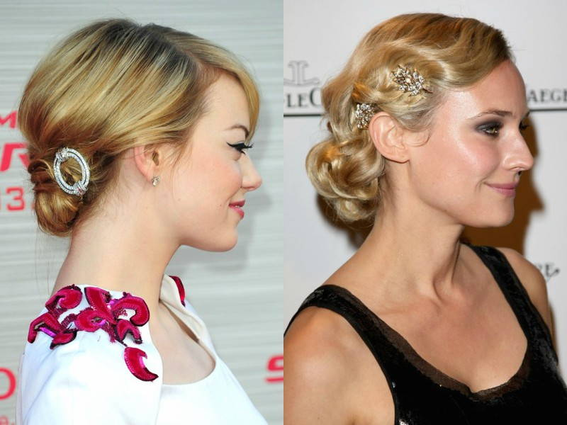 simple celebrity hair accesories