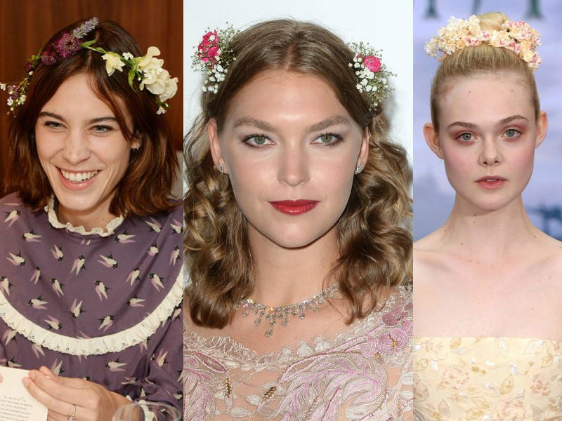celebrity flower hair accessories