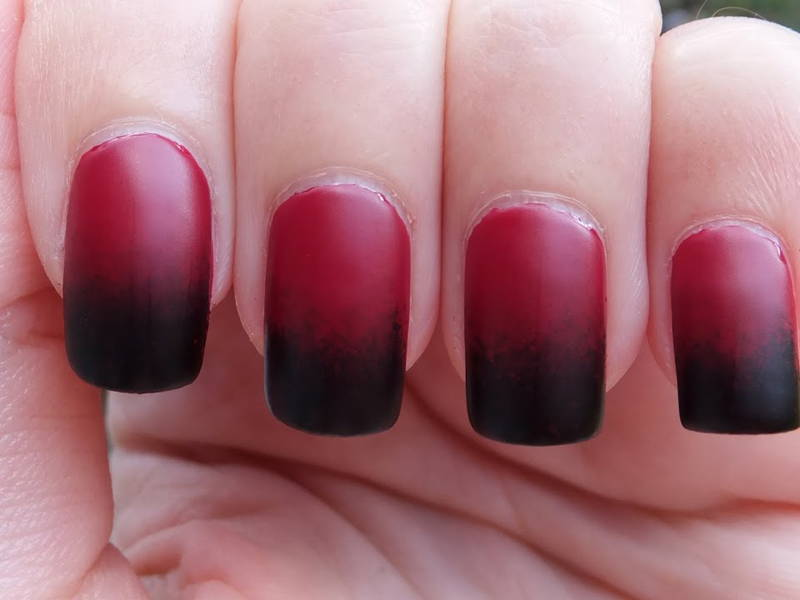 red ombre nails