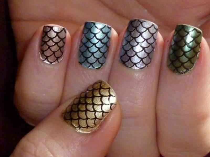 fish scale nail