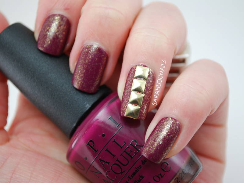 maroon nail studs