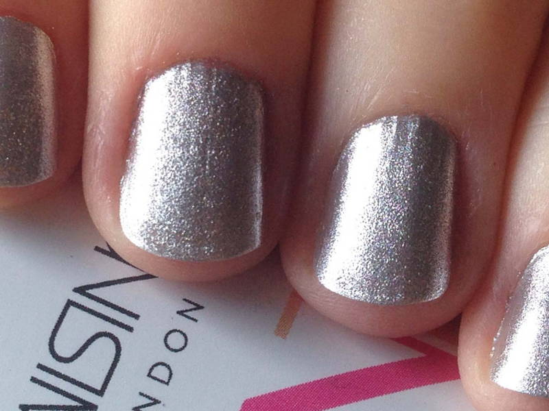 Silver Spray On Manicure