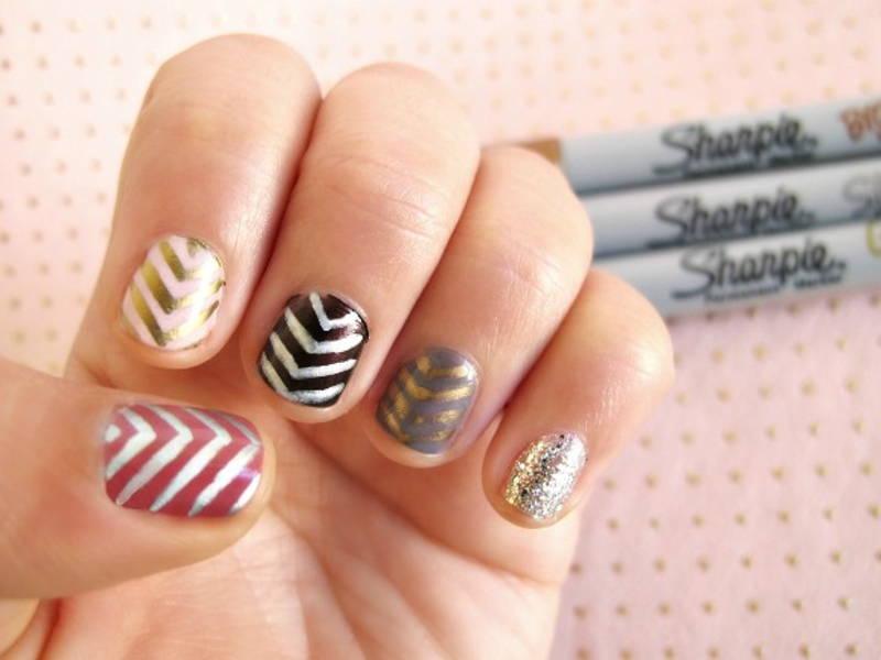 sharpie nail