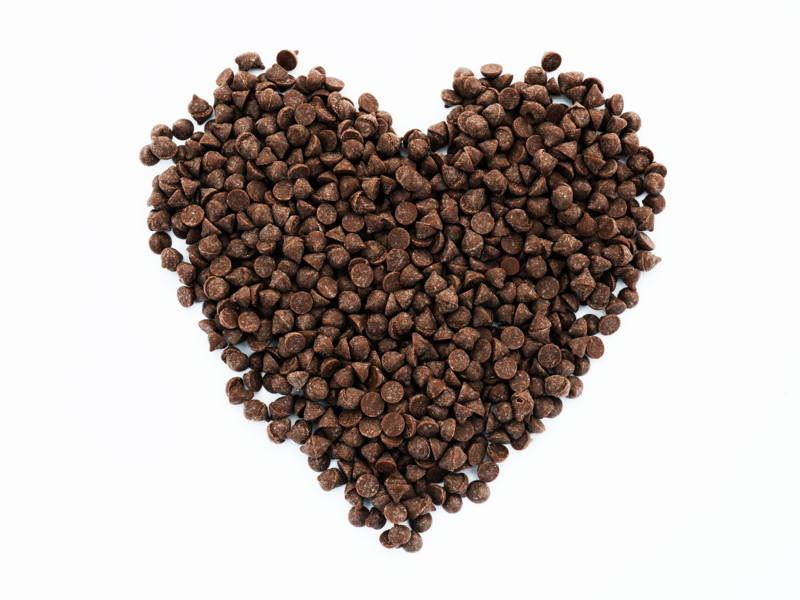 chocolate chips heart