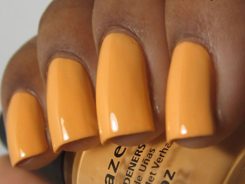 orange nail colour