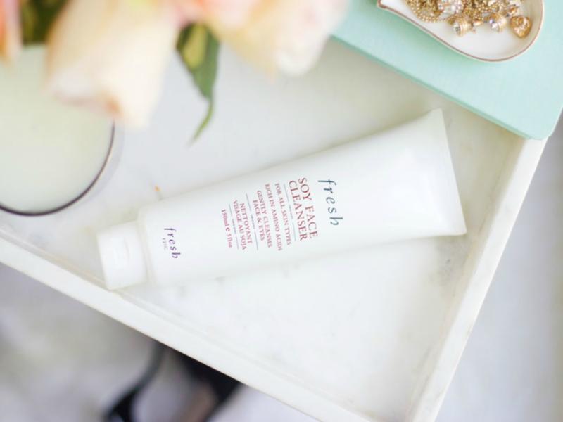 fresh soy face cleanser for dark spots