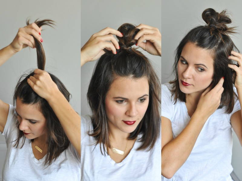 top knot hairstyle