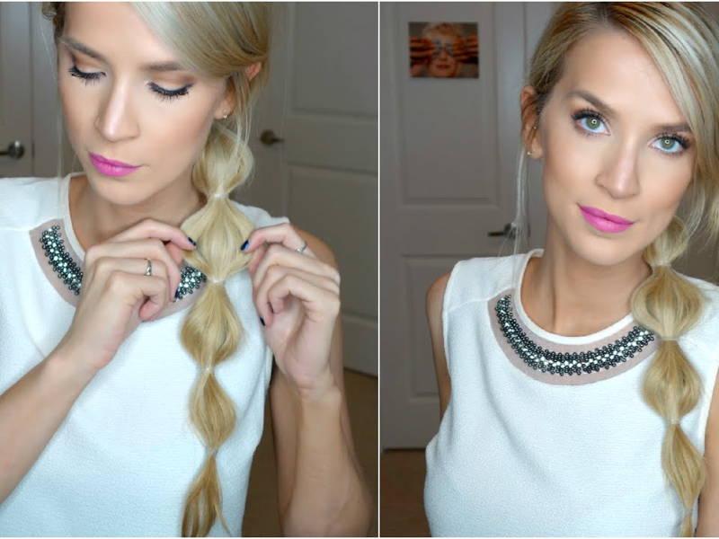 Bubble ponytail hair