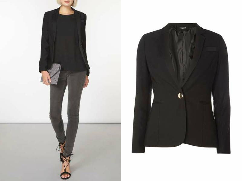 fitted black blazer dorothy perkins