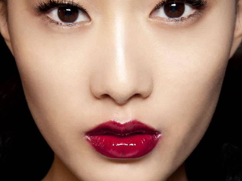 Cherry Coloured Lipstick