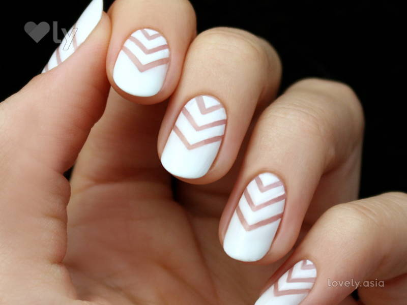 white blank space nails