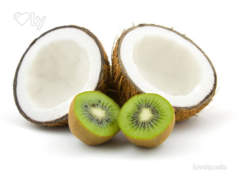 Kiwi and coconut