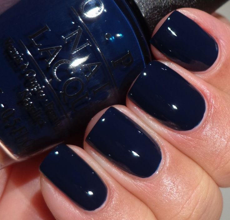 navy nail colour