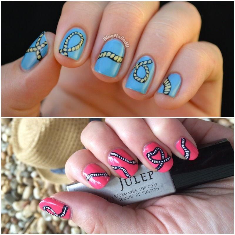 Rope nail art manicure