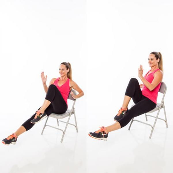 Chair running workout