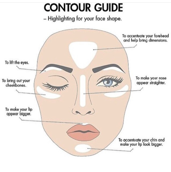 Highlight Make up Diagram