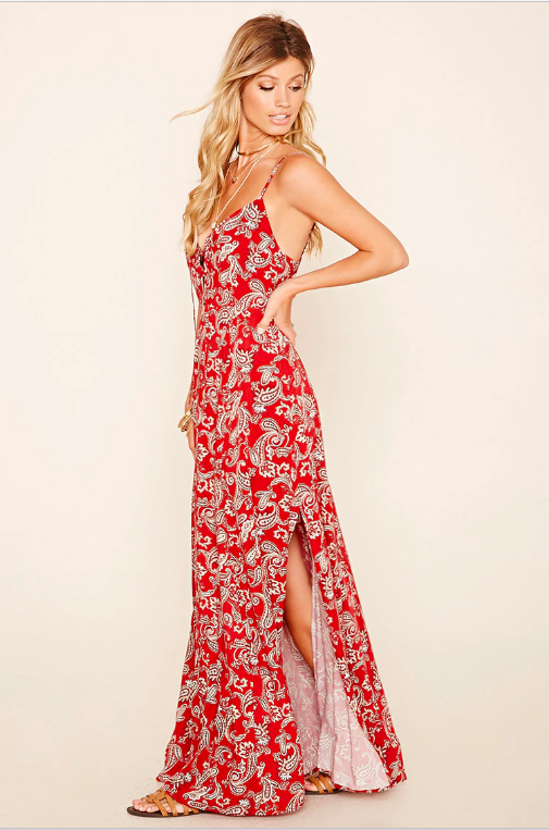 forever 21 paisley maxi