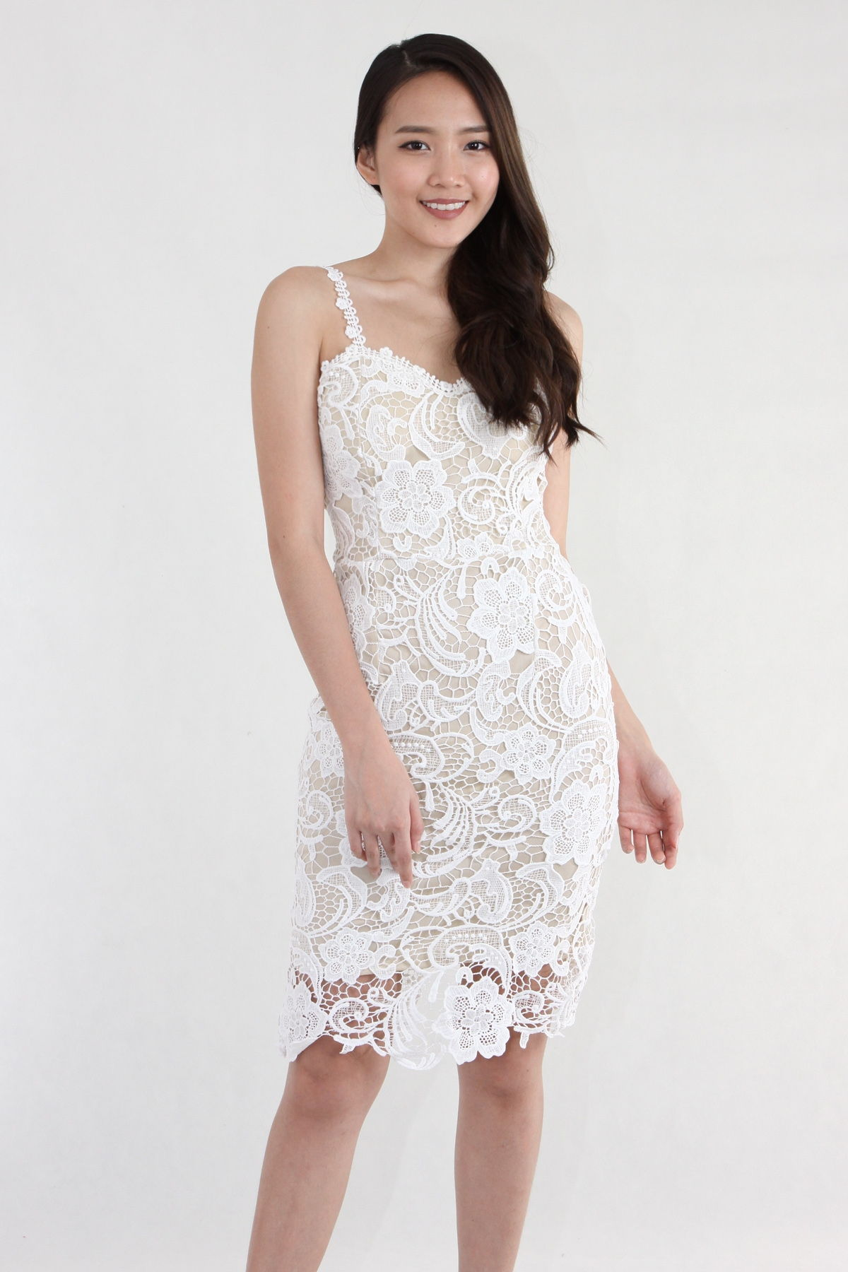 parsealed lace dress