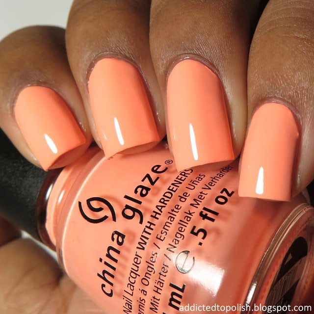 China glaze peach