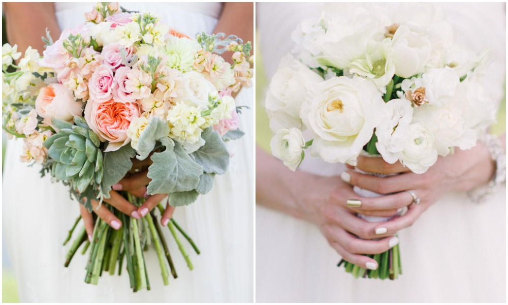 Bridal bouquet manicure
