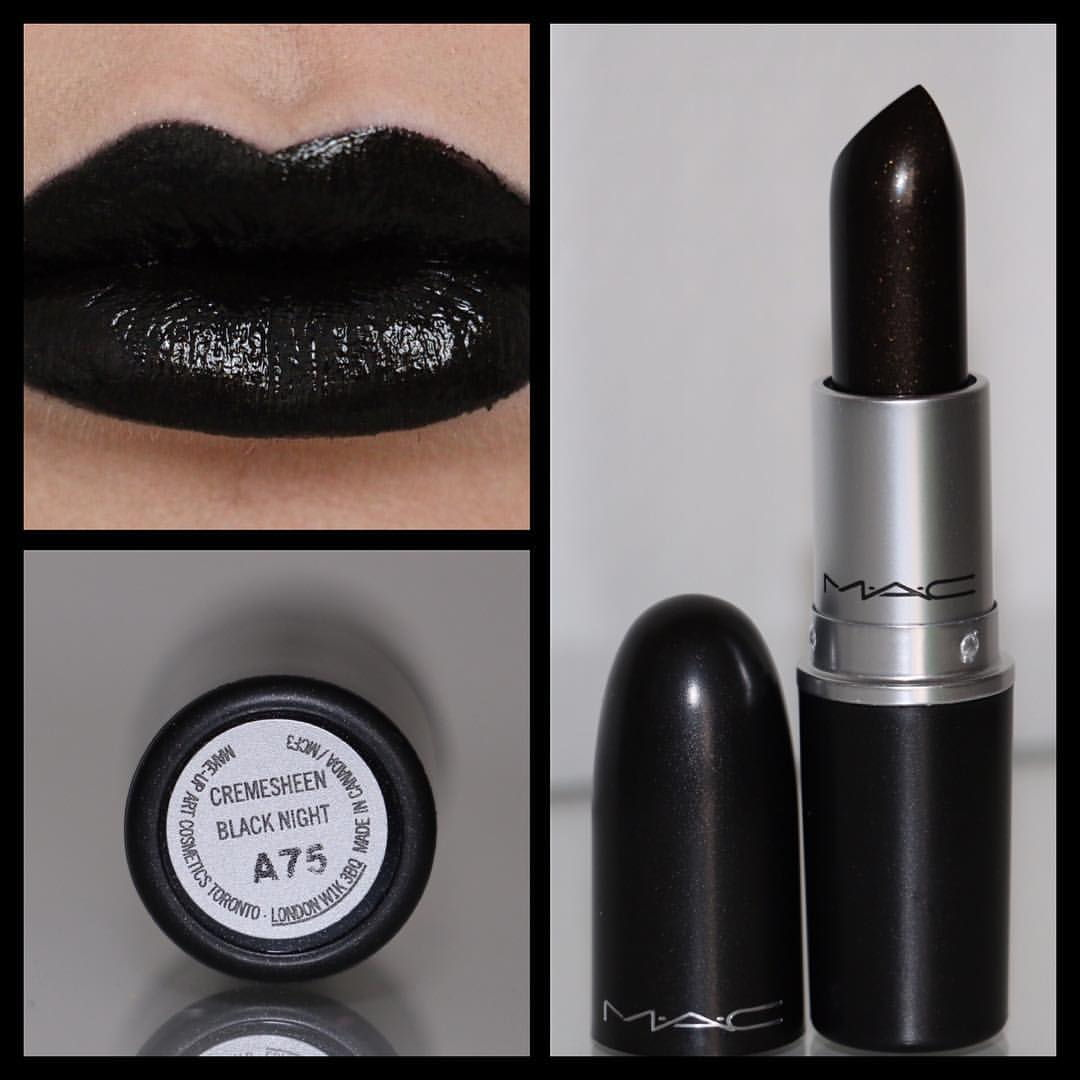 mac black lipstick