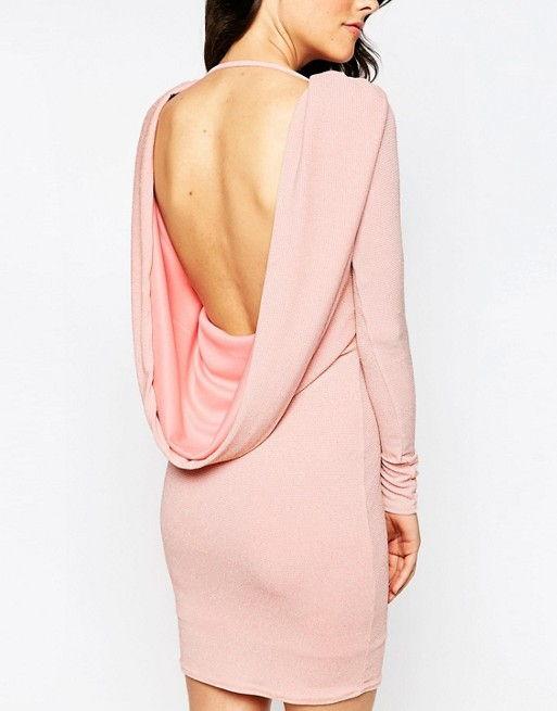 Asos cowl back mini dress