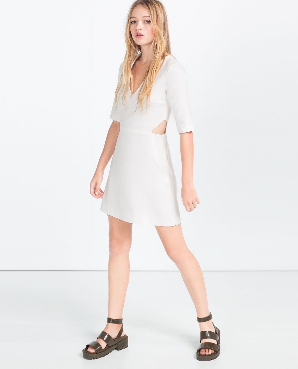 zara cut-out a-line dress