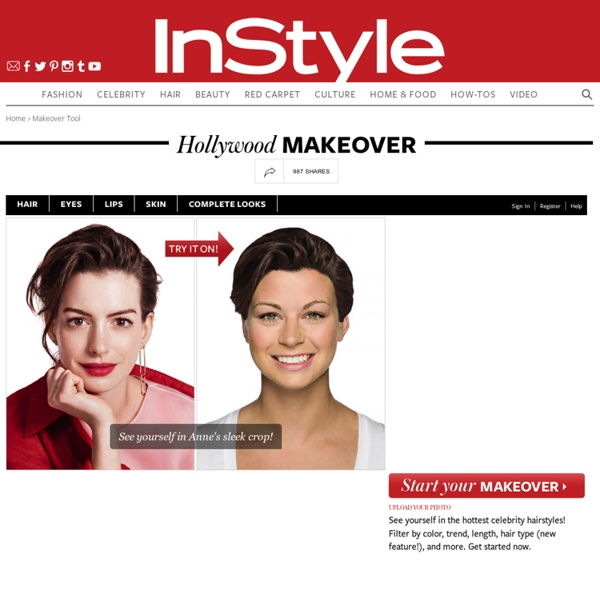 Instyle Hollywood makeover app