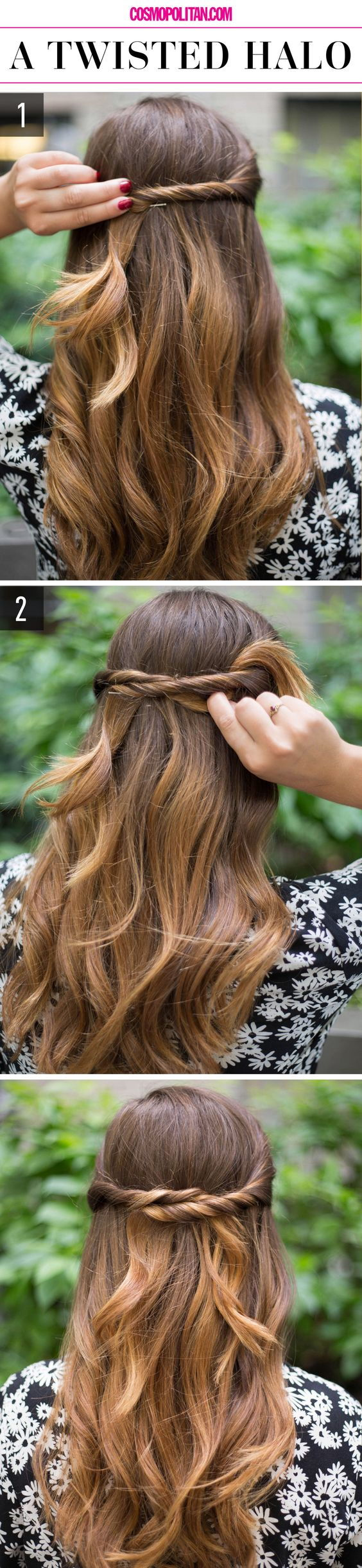 hair twist halo