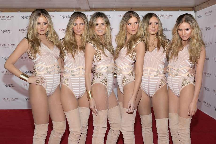 Heidi klum Halloween clones 2016