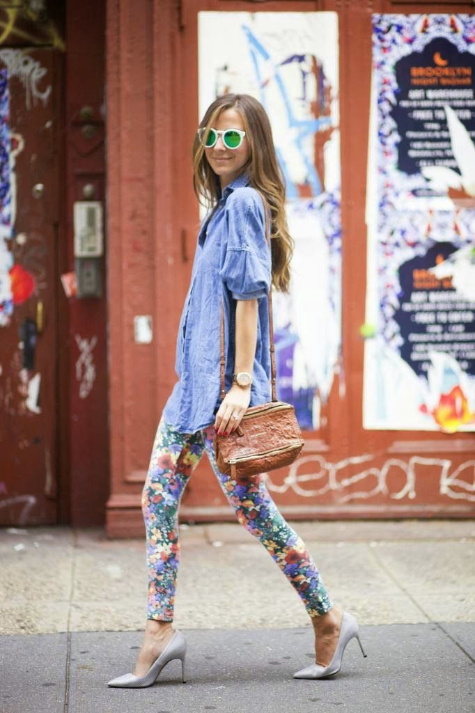 floral leggings style