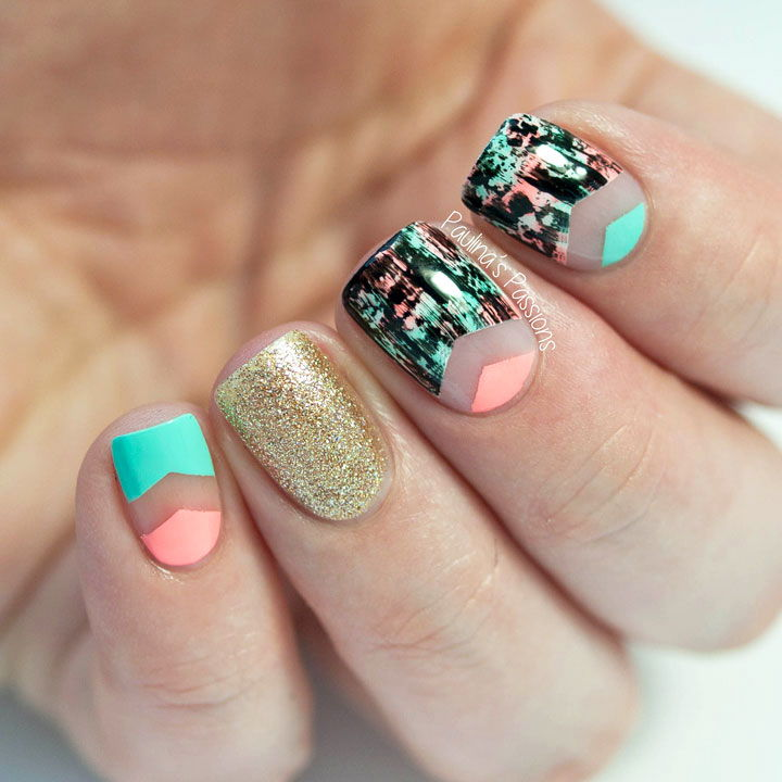 patterned blank space nails
