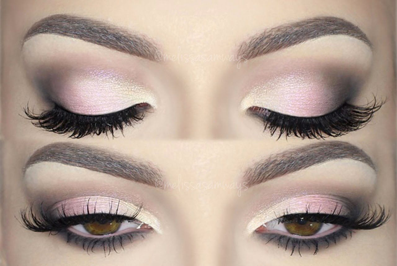Pink smokey eye makeup