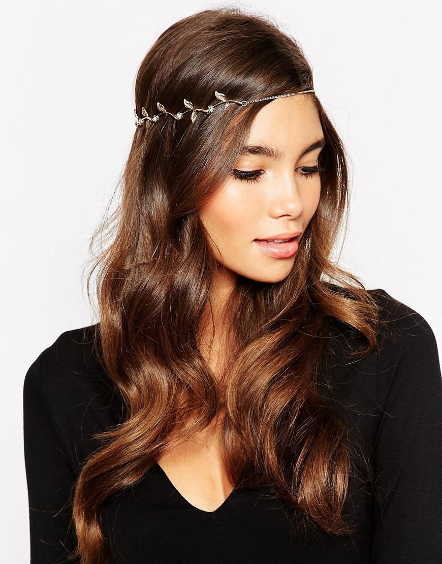 Gold hair crown asos