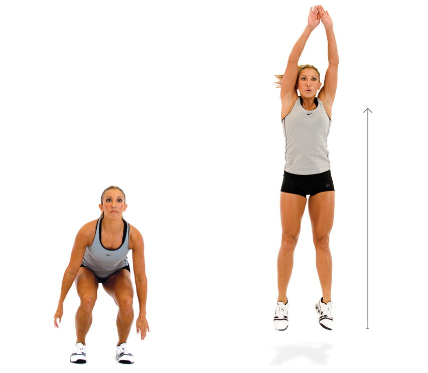 Squat jump workout
