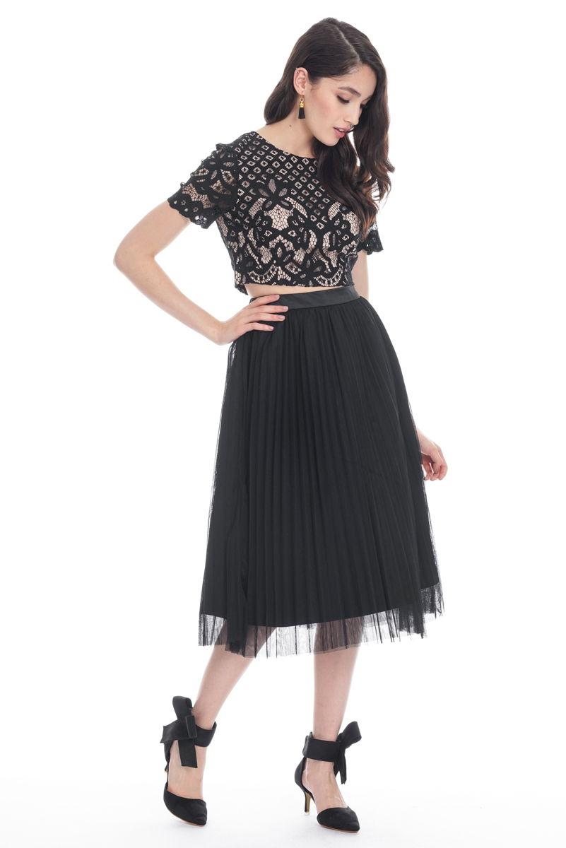 Closet lover tulle midi skirt