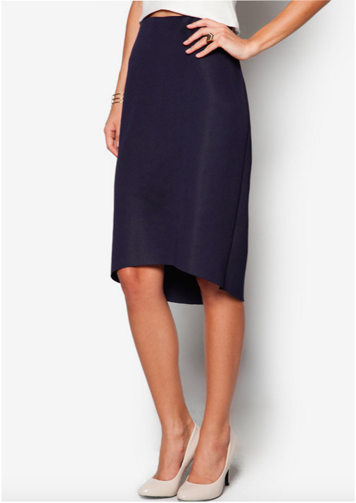 zalora high low skirt