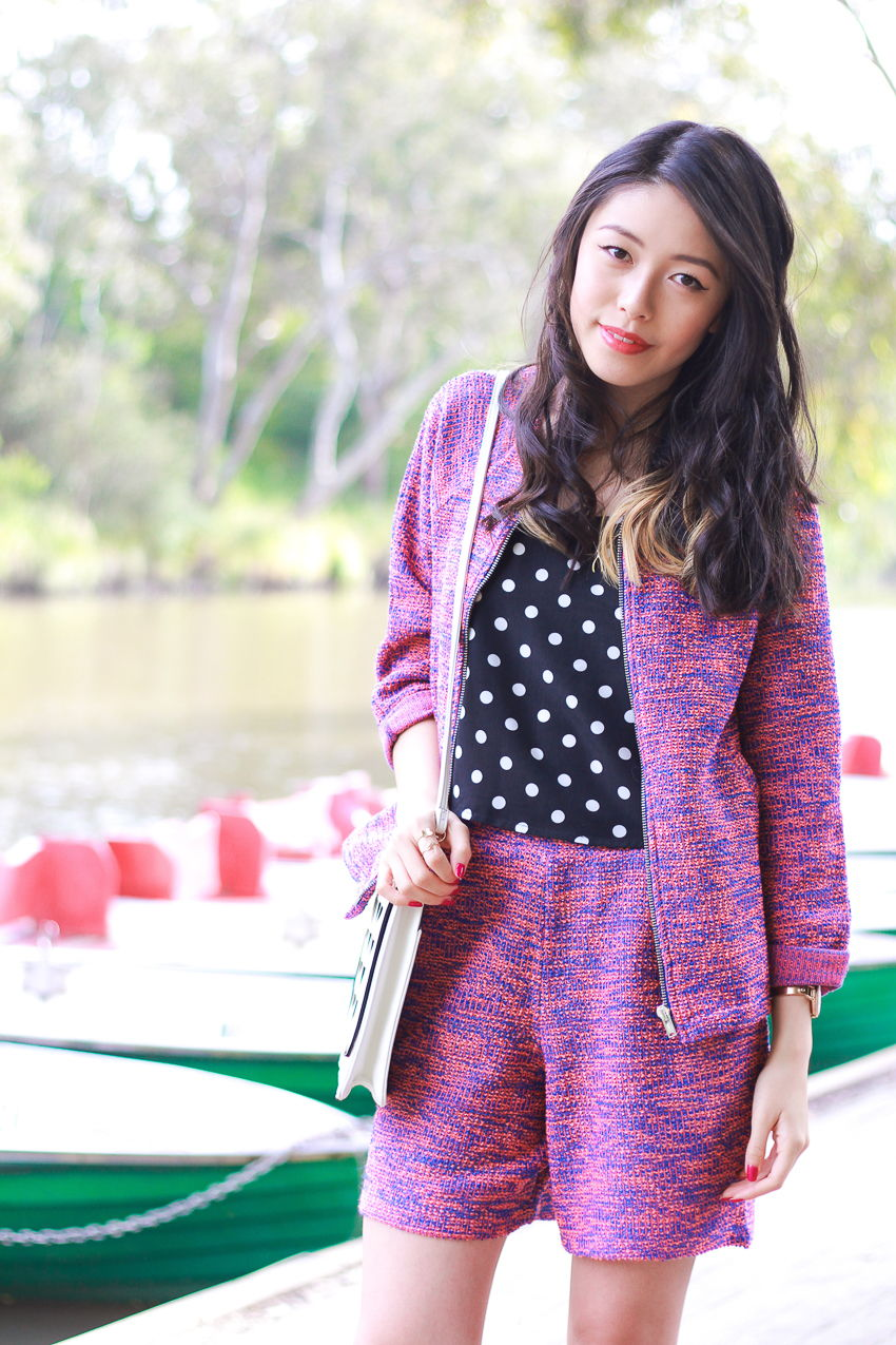 k is for kani polka dot top