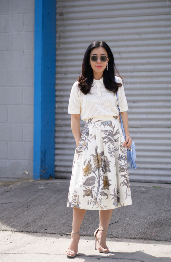 hallie daily midi skirt and blouse