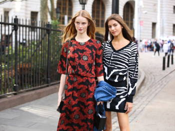 How to Rock Flashy Prints as Seen at NYFW 2017