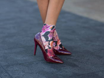 floral sock and heel