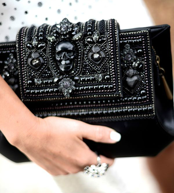 Intricate Black Clutch