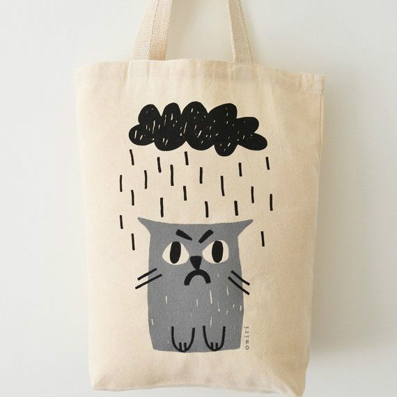 Canvas Cat Tote