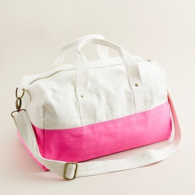 Pink Canvas Duffel