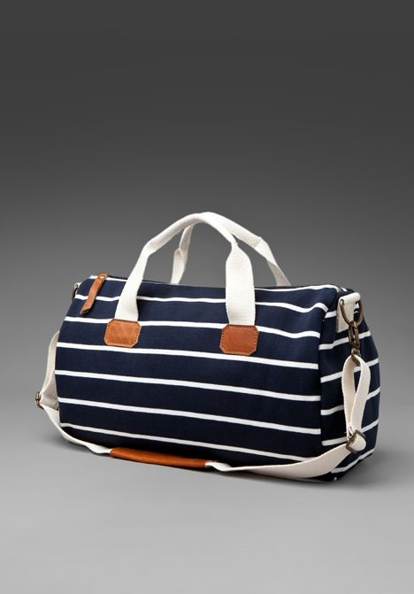 Striped Duffel