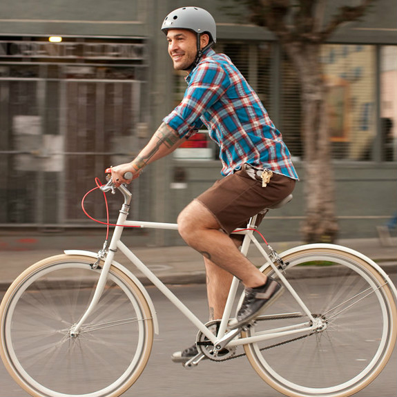 The hipster who rides a bike